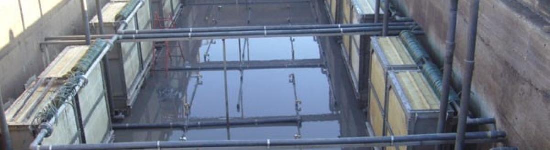 Planta de tratamiento de aguas residuales con sistema MBR
